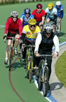 Group ride training on the Carnegie Velodrome (53kb)