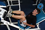 Andrew on the incline bench at a weights training session (10kb)