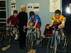 KWPT Junior Development Program - Kathy supervising an indoor wind training session  (53kb)