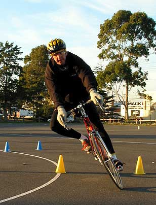Chris at cycling skills class